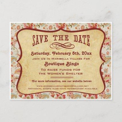 Vintage Party, Reunion or Event Save the Date Announcement