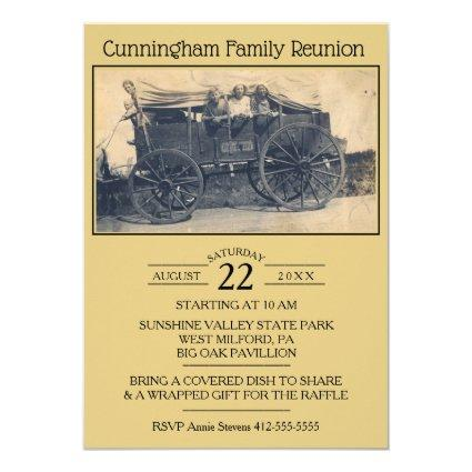 Vintage Photograph Family Reunion Invitation