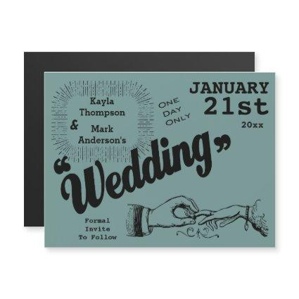 Vintage Production Save The Date Magnetic Invitation