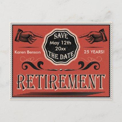 Vintage Retirement Save The Date Announcement