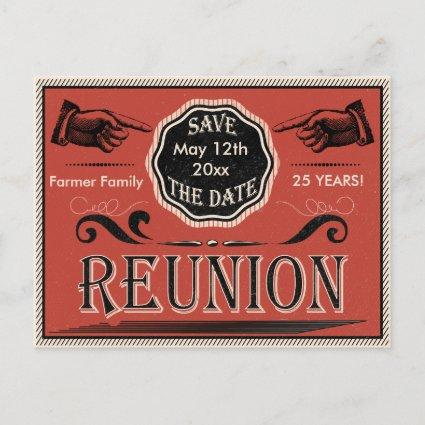 Vintage Reunion Save The Date Announcements Cards