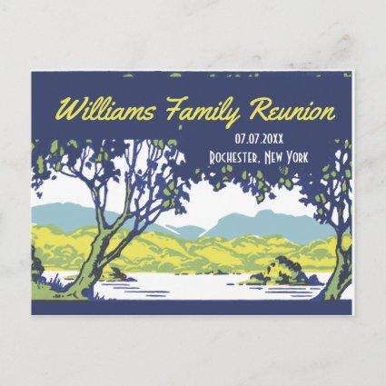 Vintage Scenic Family Tree Reunion Announcement