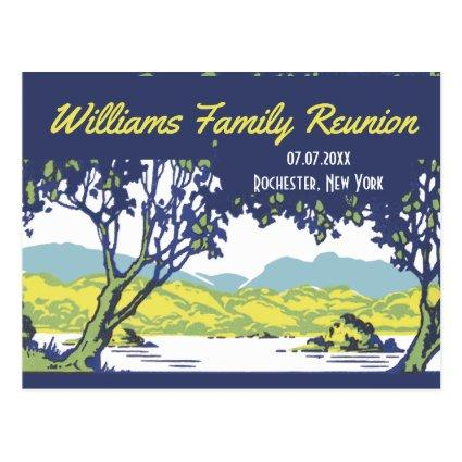 Vintage Scenic Family Tree Reunion Cards
