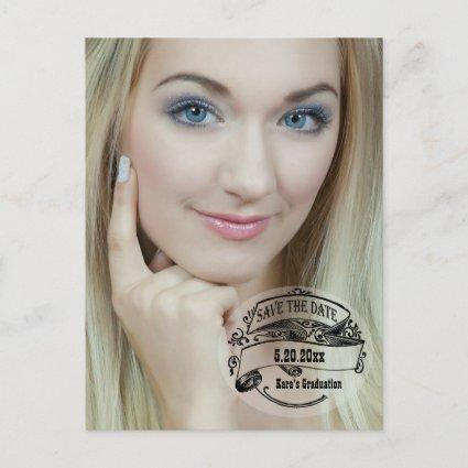 Vintage Style Save The Date Photo Card