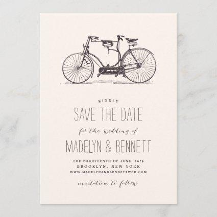 Vintage Tandem Bicycle Save the Date Cards