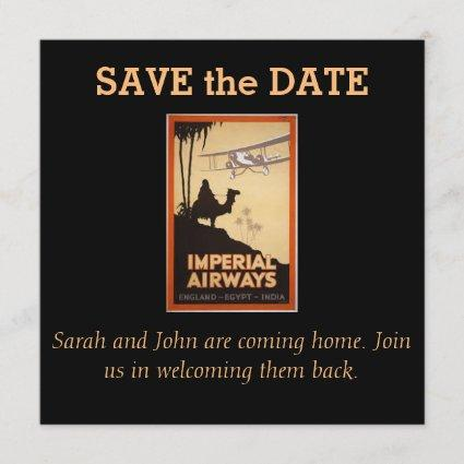 VINTAGE TRAVEL POSTERS - SAVE THE DATE