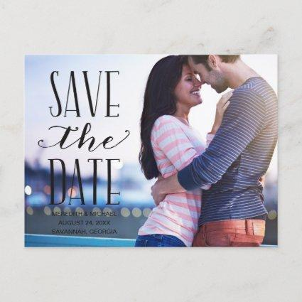 Vintage Whimsy | Photo Save the Date Announcement