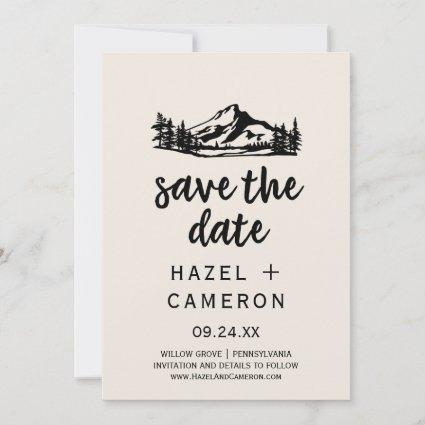 Vintage Wilderness | Plaid Save the Date Cards