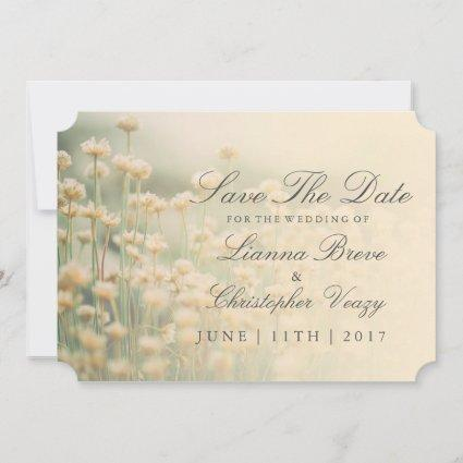 Vintage Wildflower Boho Wedding Save The Date