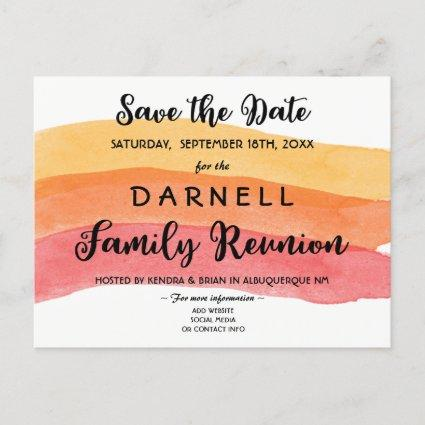Warm Paint Brush Family Reunion Save the Date Announcements Cards