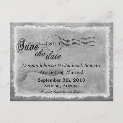 Washed Dove Vintage Rue Save the Date