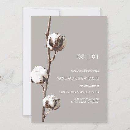 Watercolor Cotton Floral Wedding Postponement Save The Date