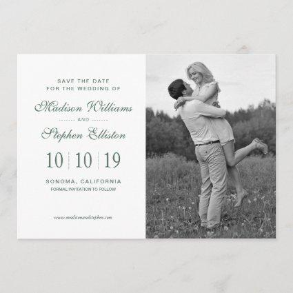 Watercolor Eucalyptus Leaf Pattern - Save the Date