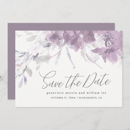 Watercolor Floral Save the Date Wedding