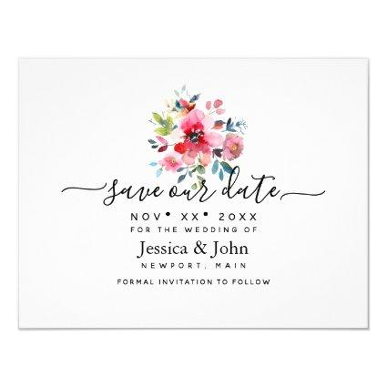 Watercolor Garden Rose, Save our Date Invitation