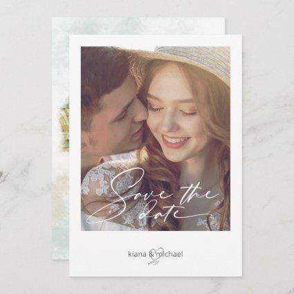 Watercolor Landscape Wedding Sage Green ID786 Save The Date