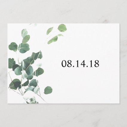 Watercolor leaves save the date Cards 5x7