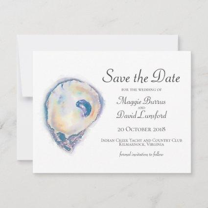 Watercolor Oyster Save the Dates Save The Date