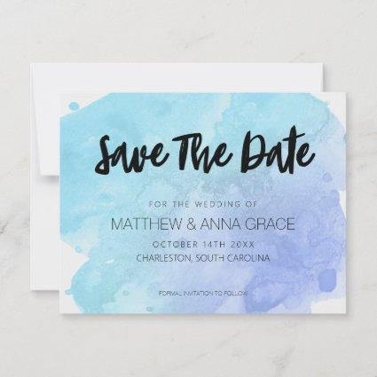 Watercolor Paint Splatter Save The Date