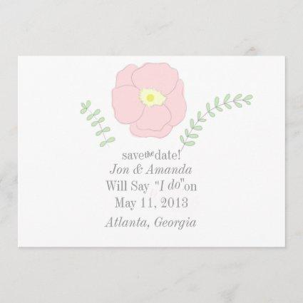 Watercolor Poppy Flower Save the Date
