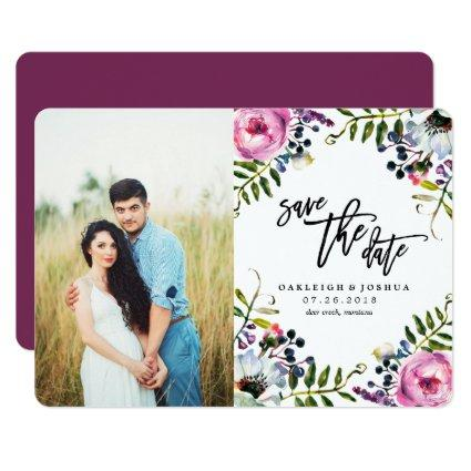 Watercolor Pretty Flowers  with Photo Cards