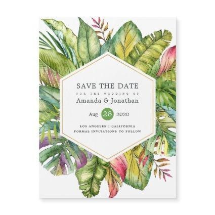 Watercolor Tropical Summer Beach Wedding