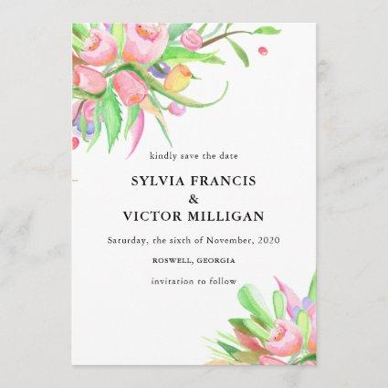 Watercolor Tulips Save the Date