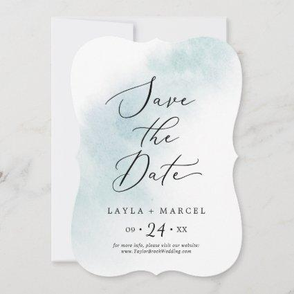 Watercolor Wash | Blue Wedding Save The Date