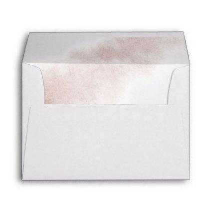 Watercolor Wash | Blush Monogram Wedding Envelope