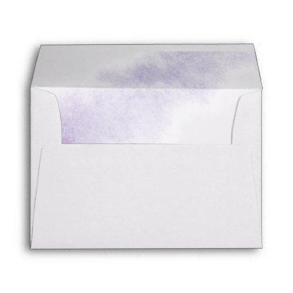 Watercolor Wash | Purple Monogram Wedding Envelope