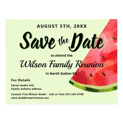 Watermelon Reunion BBQ Party