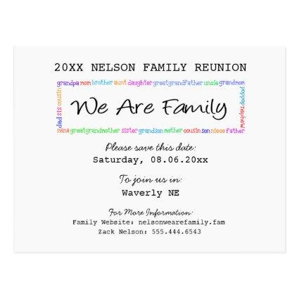 We Are Family Reunion or Party