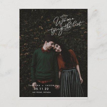 We are Tying the Knot Photo Save the Dates Announcement