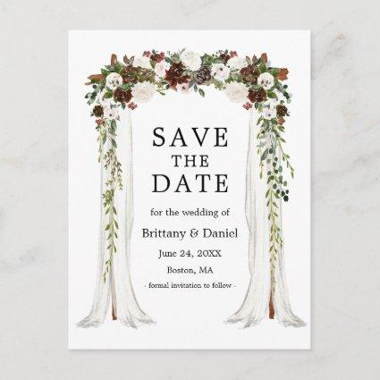 Wedding Canopy Arch Watercolor Boho Floral Announcement