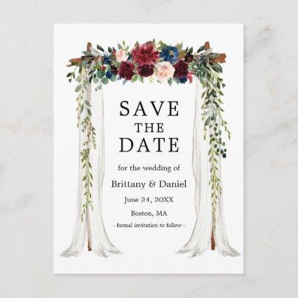 Wedding Canopy Arch Watercolor Floral Announcement