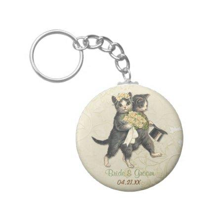 Wedding Cats Keychain