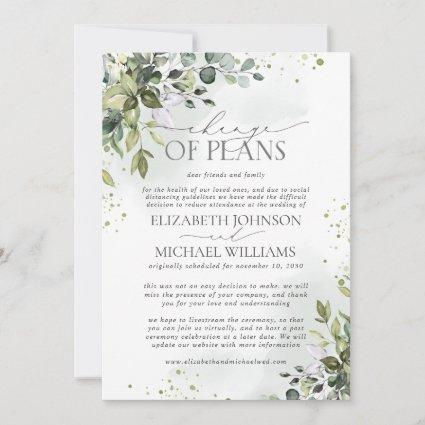 Wedding Date Postponement Eucalyptus Watercolor Save The Date