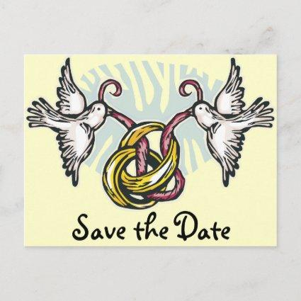 Wedding Doves Save the Date Announcements Cards
