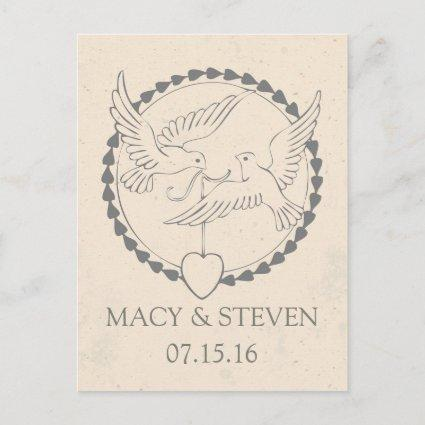 Wedding Doves Save the Date Cards