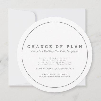 Wedding event change of plan postponed circular save the date