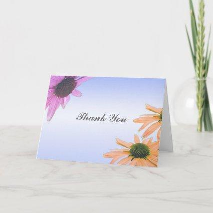 wedding gift, daisy flowers, thank you, etc. thank you card