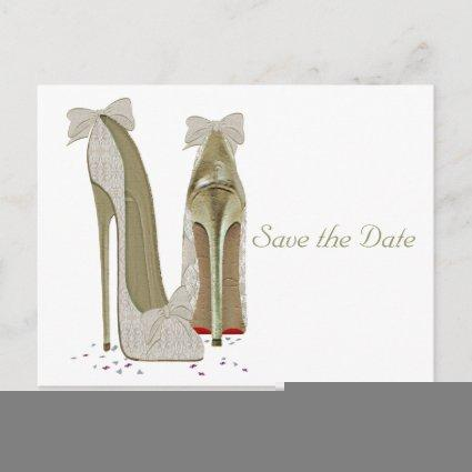 Wedding High Heels Paper Products Announcement