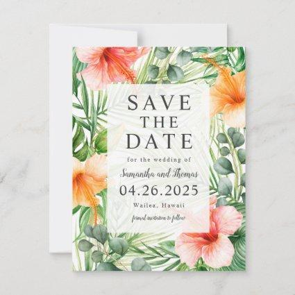 Wedding in Paradise Save the Date