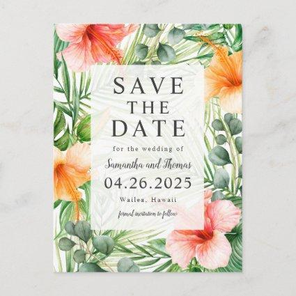 Wedding in Paradise Save the Date Announcement
