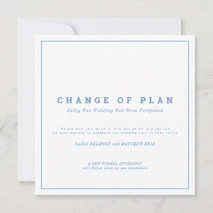 Wedding or event change of plan postponed save the save the date