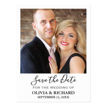 Wedding Photo Save The Date Announcement