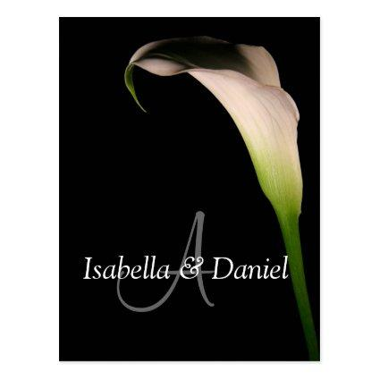 Wedding Cards Calla Lily  A Monograms