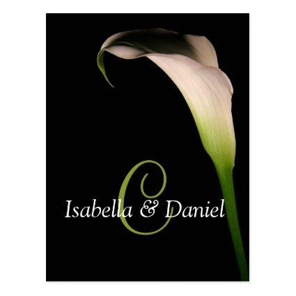Wedding Cards Calla Lily C Monograms