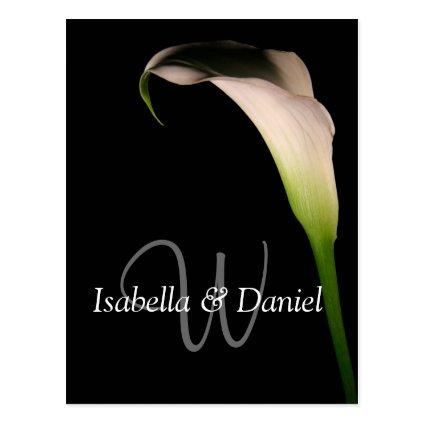 Wedding Cards Calla Lily W Monograms