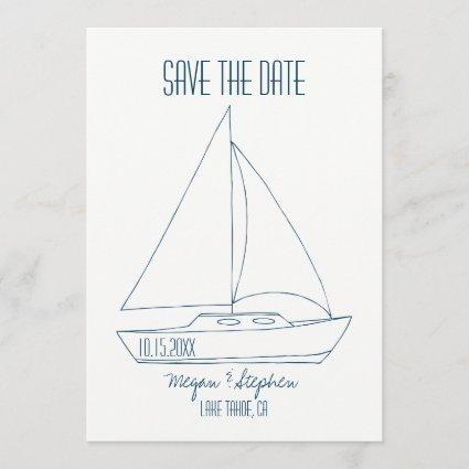 Wedding Sailboat - Save The Date